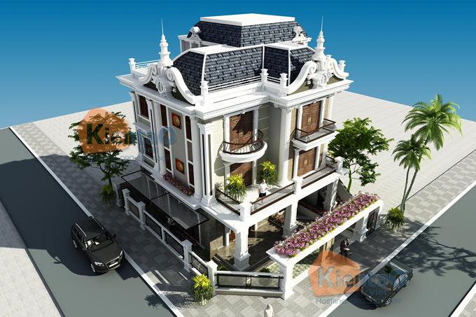 Giới thiệu 3 phong cách thiết kế biệt thự đẹp 2 và 3 tầng bạn nên biết - Biệt thự đẹp 3 tầng cổ điển