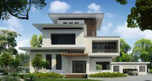 5 mẫu thiết kế biệt thự hiện đại với mái bằng - 5