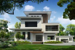 Mẫu thiết kế biệt thự hiện đại với mái bằng - 5