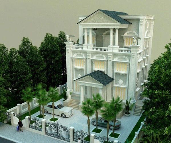 Thiết kế biệt thự đẹp phong cách Châu Âu