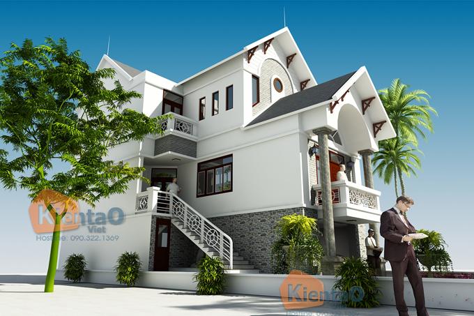 Mẫu biệt thự 3 tầng đẹp tại Ninh Giang