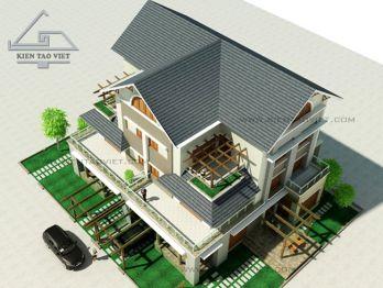 Mẫu biệt thự song lập đẹp tại Long Biên