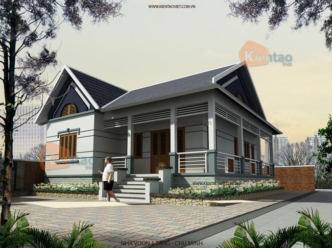 Mẫu thiết kế biệt thự 2 tầng tại Hà Nội