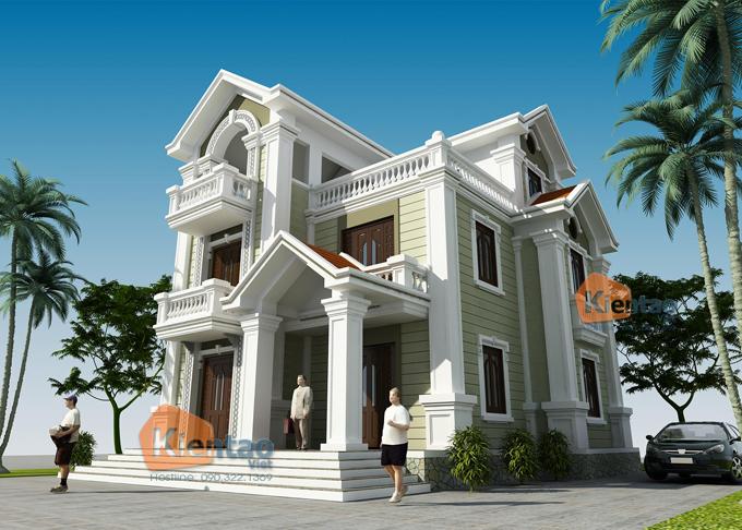 Mẫu thiết kế biệt thự 3 tầng tại Hà Nội