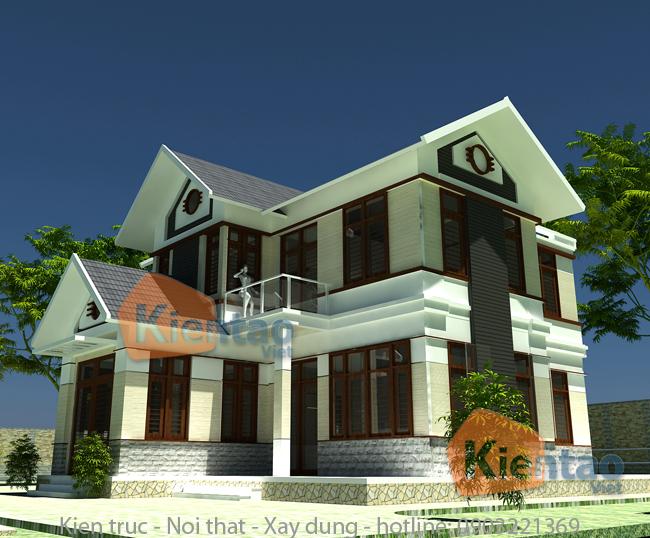 Thiết kế biệt thự 2 tầng tại Quảng Ninh