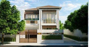 Thiết kế biệt thự 2 tầng đẹp hiện đại 8,5x26m