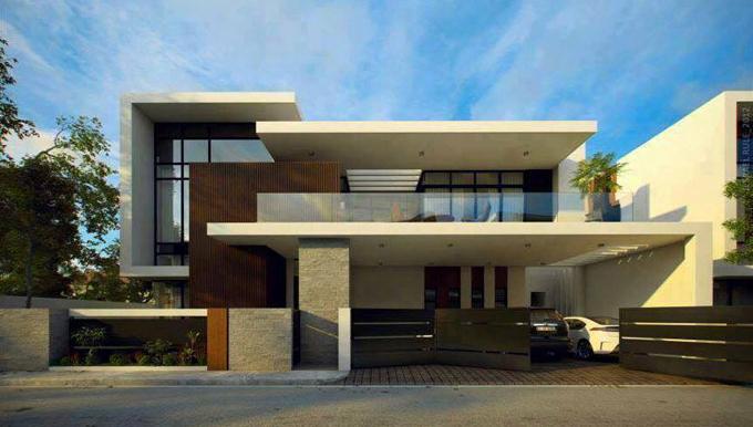 Biệt thự đẹp 2 tầng 1 tum hiện đại - Ảnh phối cảnh