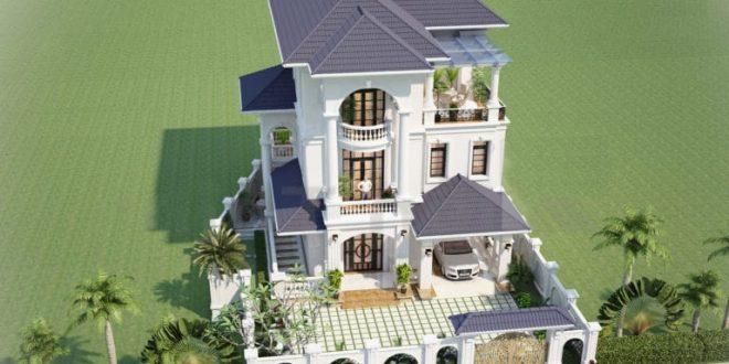 Biệt thự 2 tầng đẹp kiểu Pháp - Phối cảnh 3