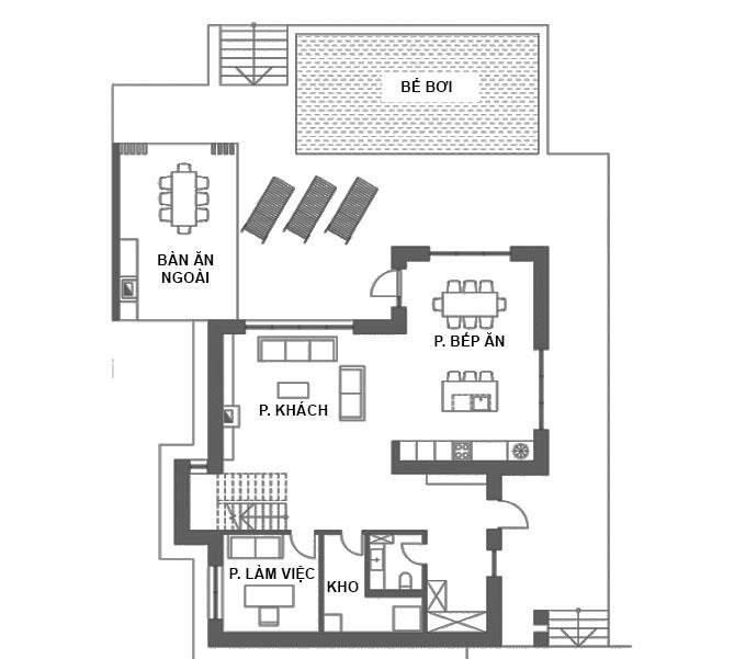 MB1 - Thiết kế biệt thự 2 tầng hiện đại có hồ bơi