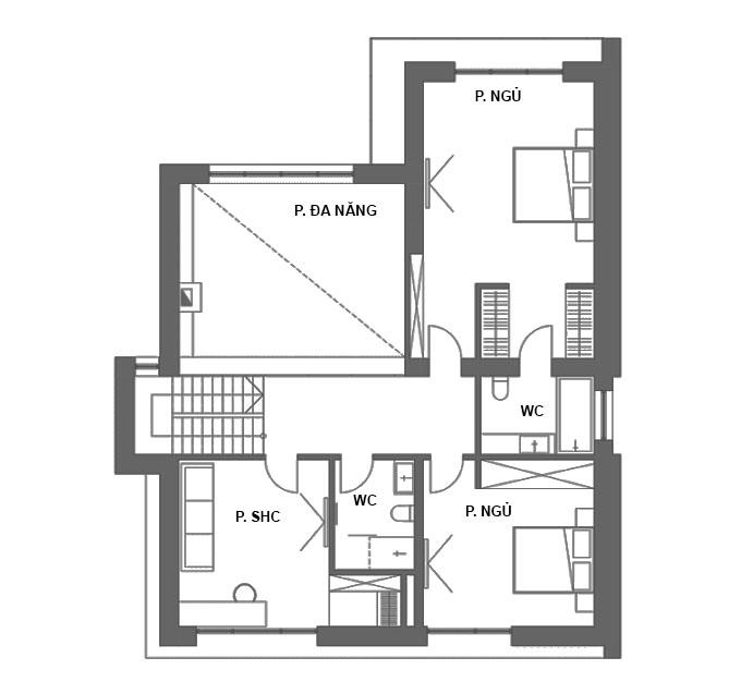 MB2 - Thiết kế biệt thự 2 tầng hiện đại có hồ bơi