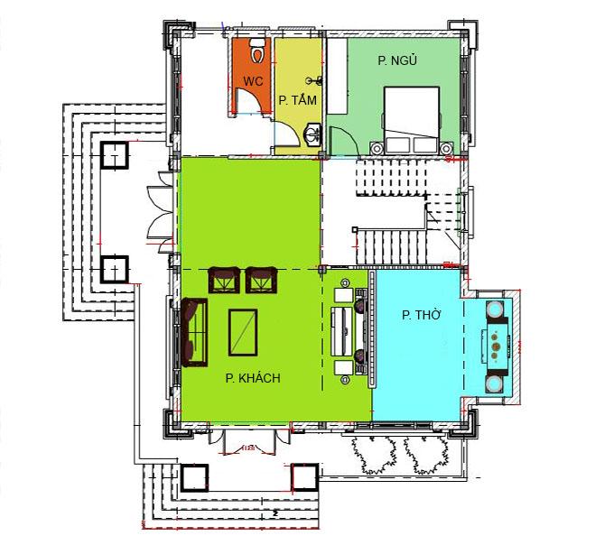 MB1 - Biệt thự 2 tầng 2 mặt tiền