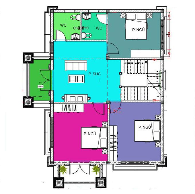 MB2 - Biệt thự 2 tầng 2 mặt tiền