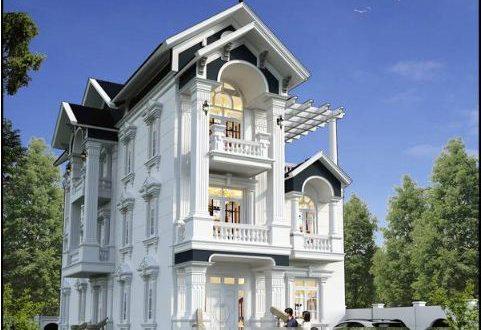 Biệt thự 3 tầng kiểu Pháp 9x25m