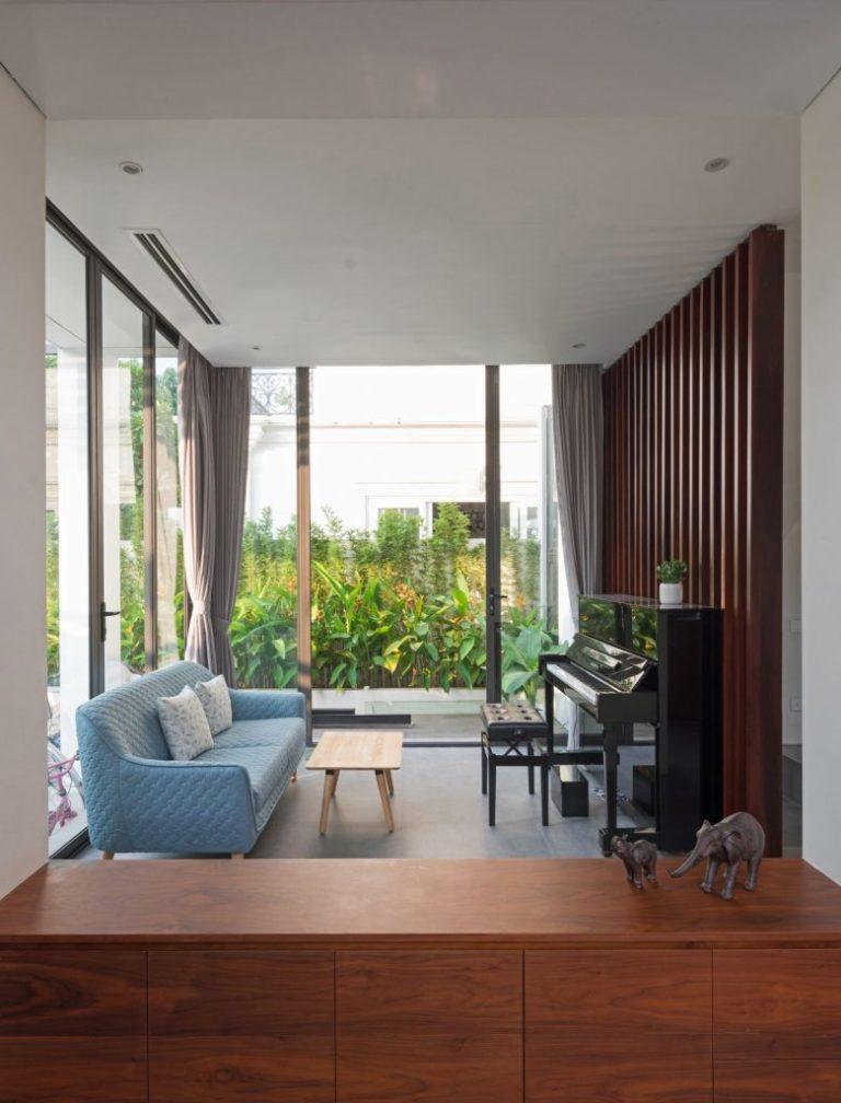 Biệt thự 3 tầng mặt tiền hệ lam gỗ 3