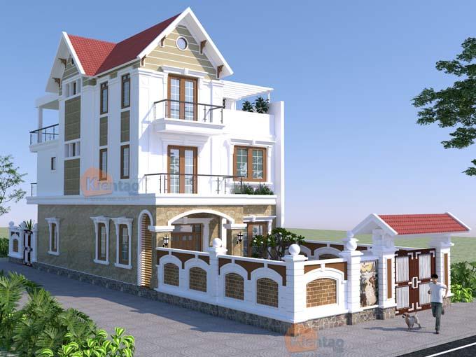 Biệt thự mái thái 3 tầng tân cổ điển
