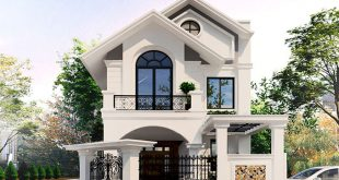 PC1 - Thiết kế biệt thự mini 2 tầng tân cổ điển 150m2