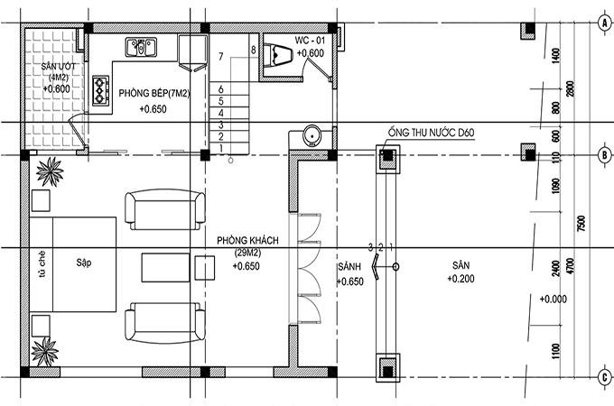 MB1 - Thiết kế biệt thự mini 2 tầng tân cổ điển 150m2