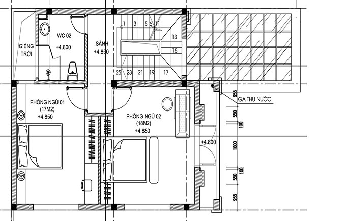 MB2 - Thiết kế biệt thự mini 2 tầng tân cổ điển 150m2