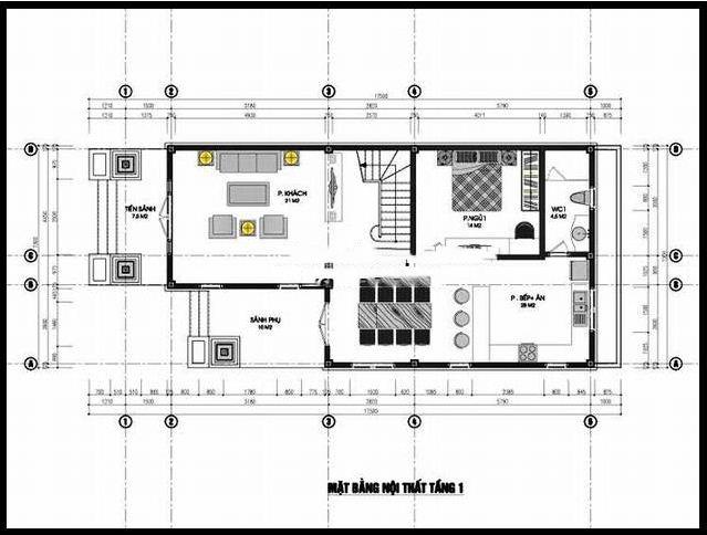Biệt thự phố 2 tầng hiện đại hợp phong thủy 7x15m. 1