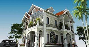 Thiết kế biệt thự tân cổ điển 2 tầng đẹp