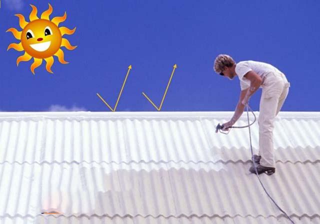 Chống nóng mái tôn nhà biệt thự bằng sơn cách nhiệt