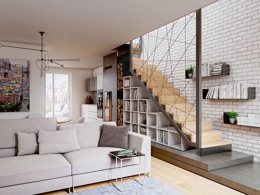 Thiết kế nhà biệt thự cầu thang phong thủy 1