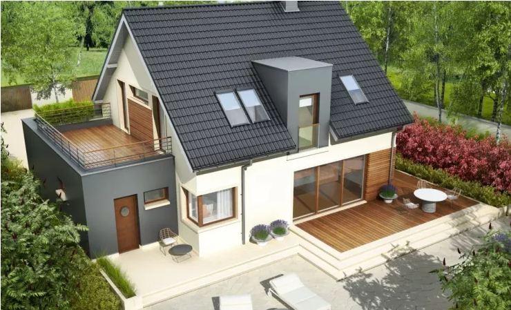 Mẫu biệt thự 126 m2 đơn giản mà đẹp phong cách Ba Lan-1