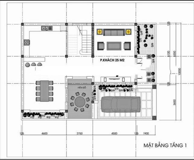 mẫu biệt thự 2 tầng tân cổ điển 110m2. 1