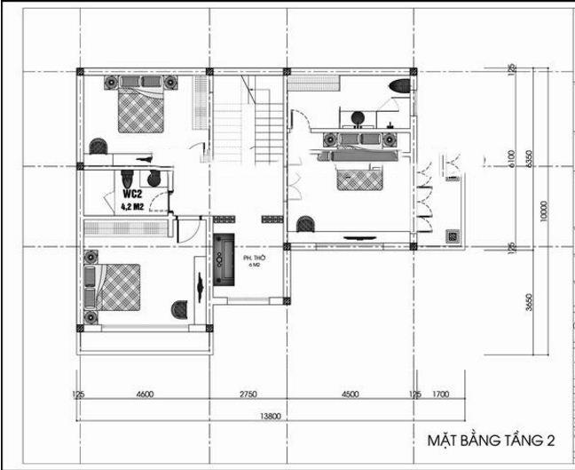 mẫu biệt thự 2 tầng tân cổ điển 110m2. 2