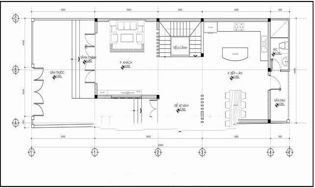 Mẫu biệt thự 3 tầng hiện đại chữ L 6x20,5m. 1