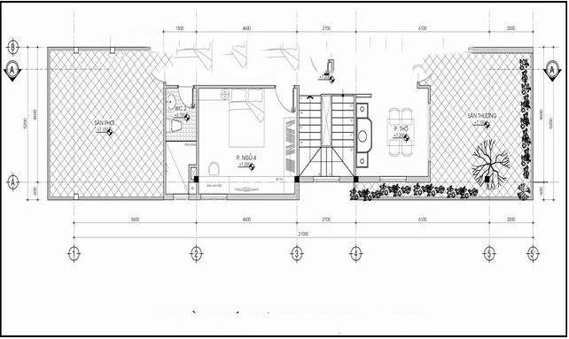 Mẫu biệt thự 3 tầng hiện đại chữ L 6x20,5m. 3