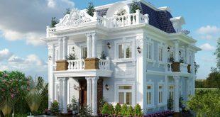 Mẫu biệt thự 3 tầng phong cách cổ điển tinh tế 1