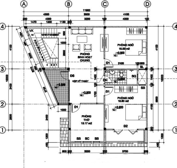 Mẫu biệt thự đẹp 2 tầng 10x12m chi phí rẻ. 2