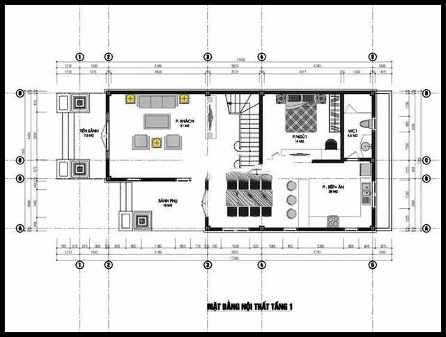 Mẫu biệt thự đẹp 2 tầng 7x15m độc đáo. 1