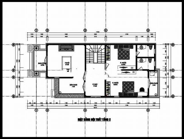 Mẫu biệt thự đẹp 2 tầng 7x15m độc đáo. 2