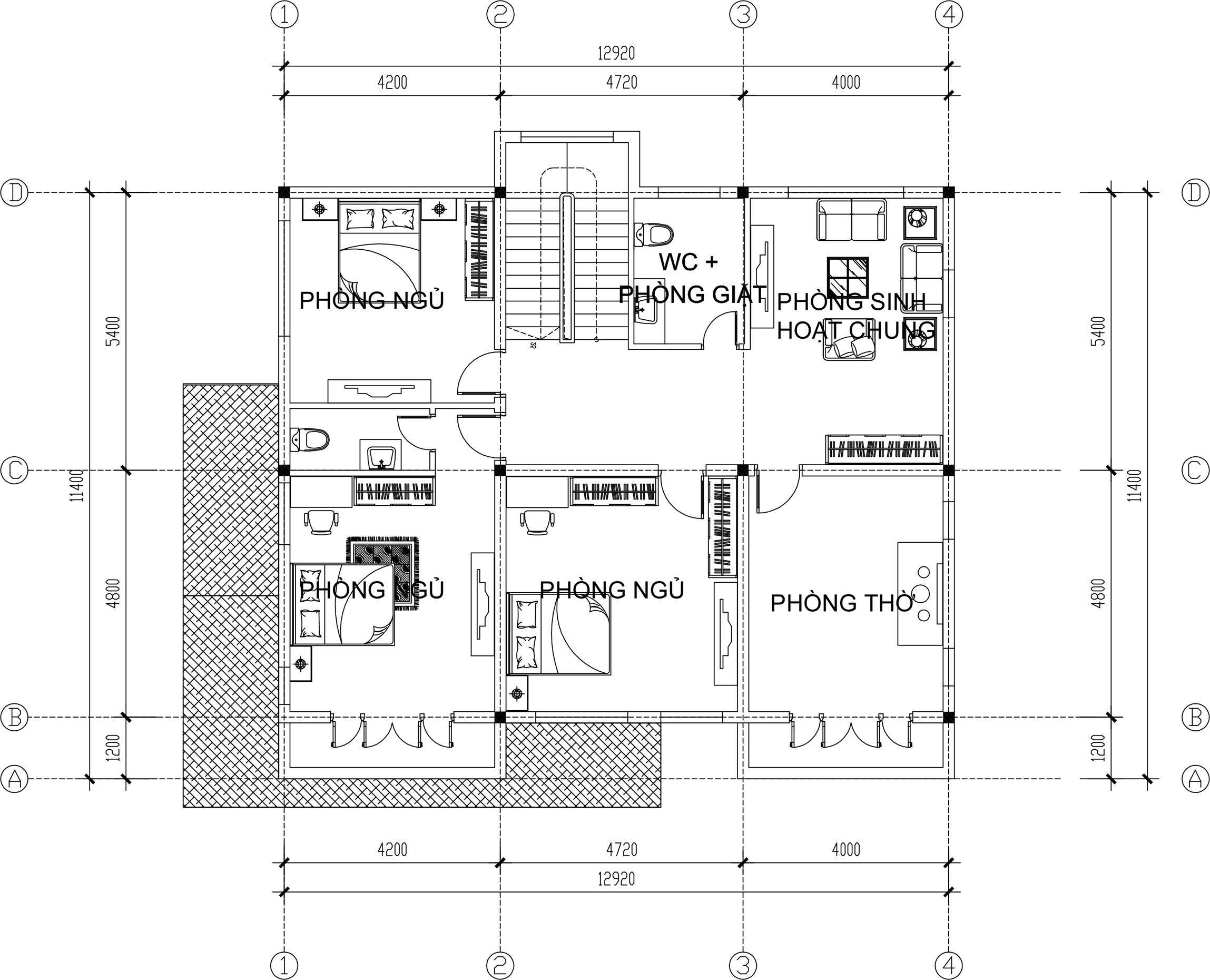 Mẫu biệt thự đẹp 2 tầng hiện đại. 2
