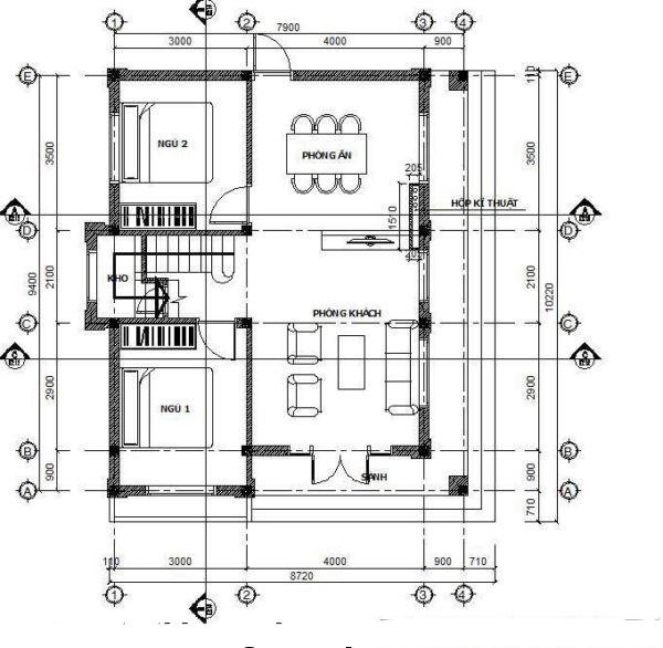 Mẫu biệt thự đẹp 2 tầng hiện đại 9x9m. 1
