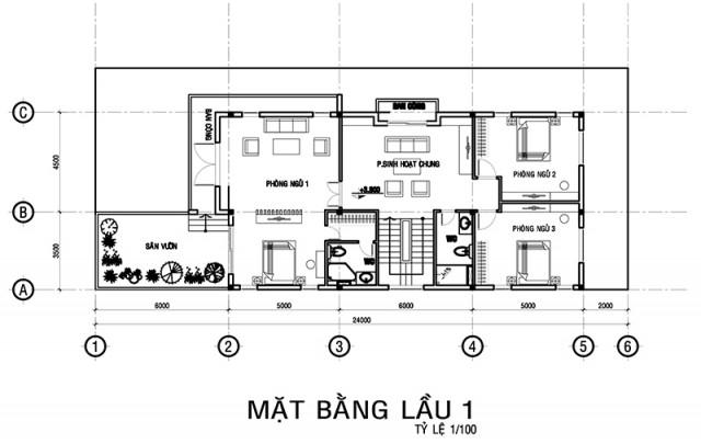 Mẫu biệt thự đẹp 3 tầng 10x24m độc đáo. 2