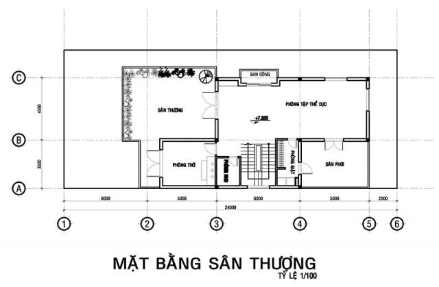 Mẫu biệt thự đẹp 3 tầng 10x24m độc đáo. 3