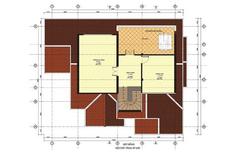 Mẫu biệt thự đẹp 3 tầng 28,5x20m kiến trúc Bán Cổ Điển sang trọng - 3