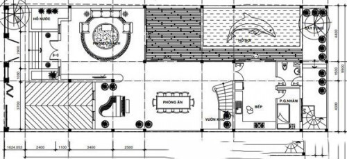 Mẫu biệt thự đẹp 3 tầng bể bơi trong nhà. 1