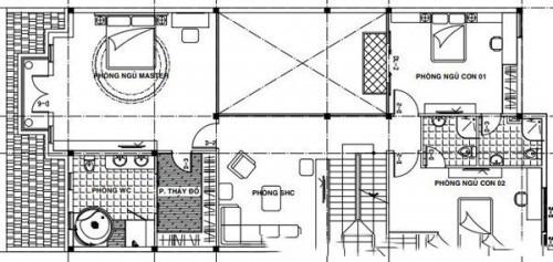 Mẫu biệt thự đẹp 3 tầng bể bơi trong nhà. 2