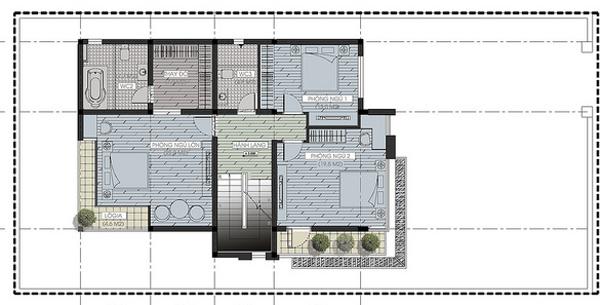 Mẫu biệt thự đẹp 3 tầng đẳng cấp 300m2. 2