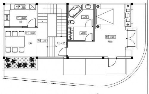 Mẫu biệt thự đẹp 3 tầng mái thái hiện đại. 2