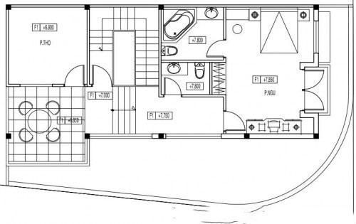 Mẫu biệt thự đẹp 3 tầng mái thái hiện đại. 3