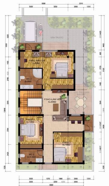 Mẫu biệt thự đẹp 3 tầng phong cách châu âu. 2
