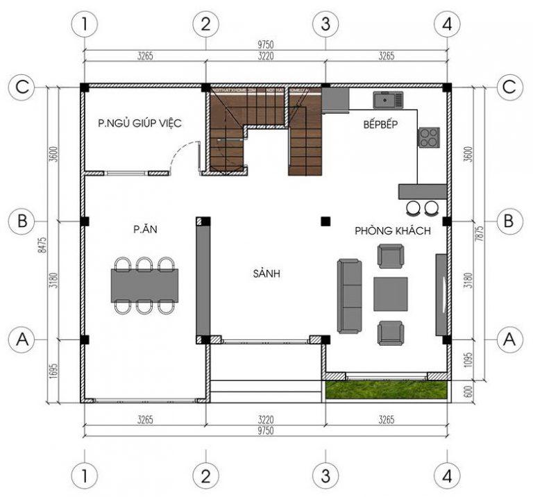 Mẫu biệt thự đẹp 4 tầng hiện đại 10x8m. 1