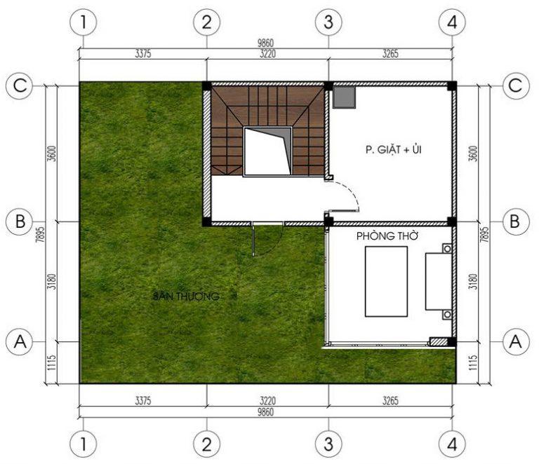 Mẫu biệt thự đẹp 4 tầng hiện đại 10x8m. 4