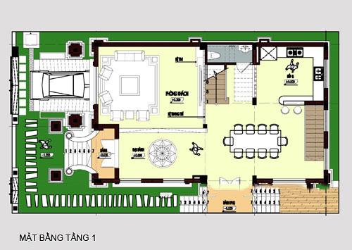 mẫu biệt thự đẹp 4 tầng phong cách cổ điển. 2