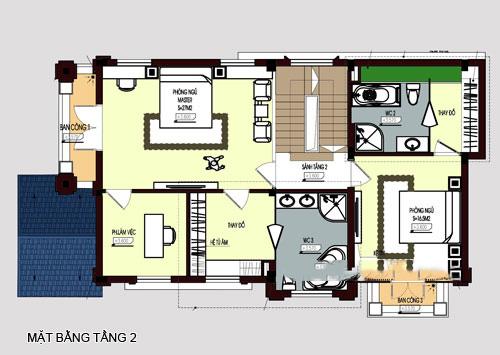 mẫu biệt thự đẹp 4 tầng phong cách cổ điển. 3